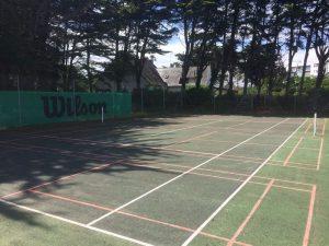 terrains de badminton Peninsula tennis club quiberon bois d'amour