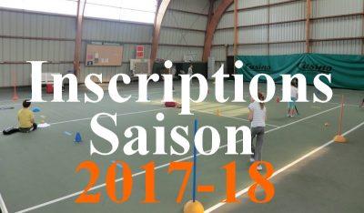 inscriptions tennis quiberon 2017-18