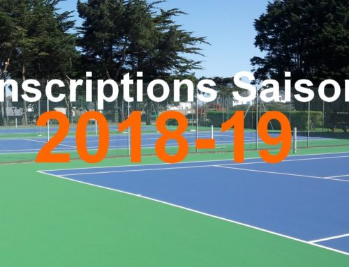 Inscriptions saison 2018-19