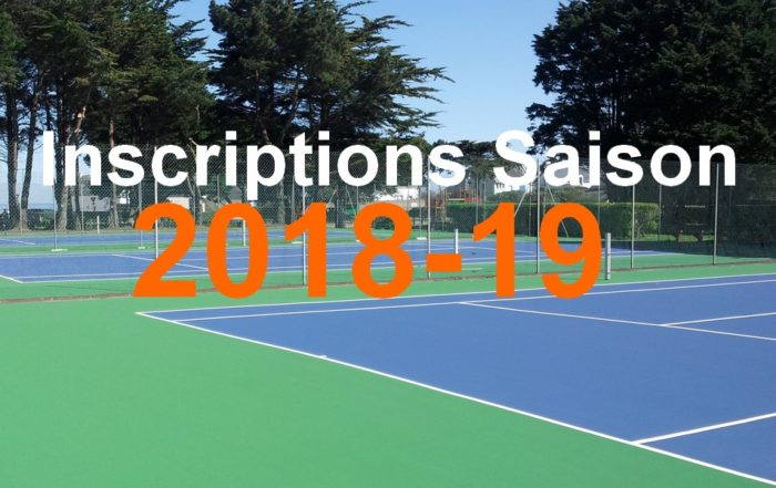 inscriptions tennis quiberon 2018 2019